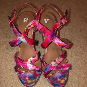 Water colored wedges